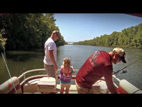 MILITARY GIRL CATCHES 10 CATFISH.Father & Son Outdoors TV