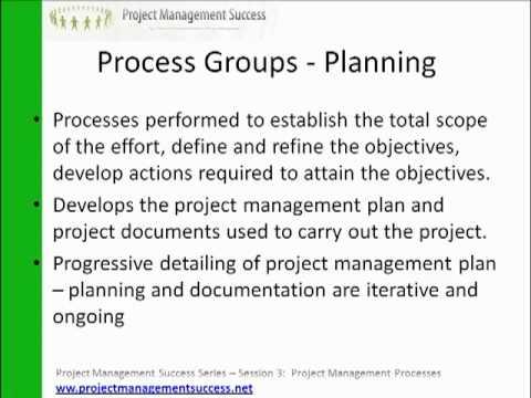 www.projectmanagementsuccess.net - PMBOK Explained - 3 Project Management Processes