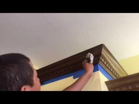 Old Masters Gel Stain Glaze Dark Walnut on Kitchen Cabinets - YouTube
