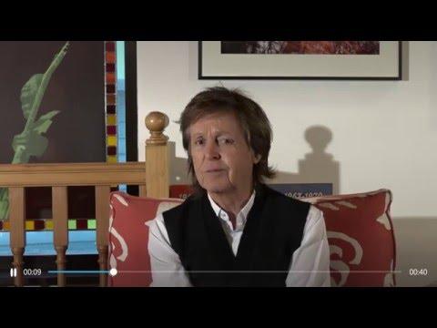 Sir Paul McCartney introduces Skype Love Mojis