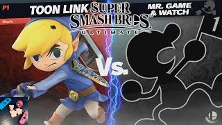 Smash Ultimate - Toon Link vs. Mr. Game & Watch (Lv. 9 CPU) - Episode 34