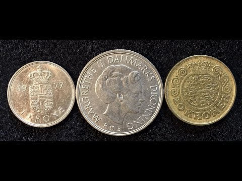 Denmark Does Not Have A Euro Coin!  1 Krone, 5 Kroner And 20 Kroner Coins From 1987- 1990 Danmark