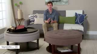 Belham Living Dalton Coffee Table Storage Ottoman With Shelf - Product Review Video