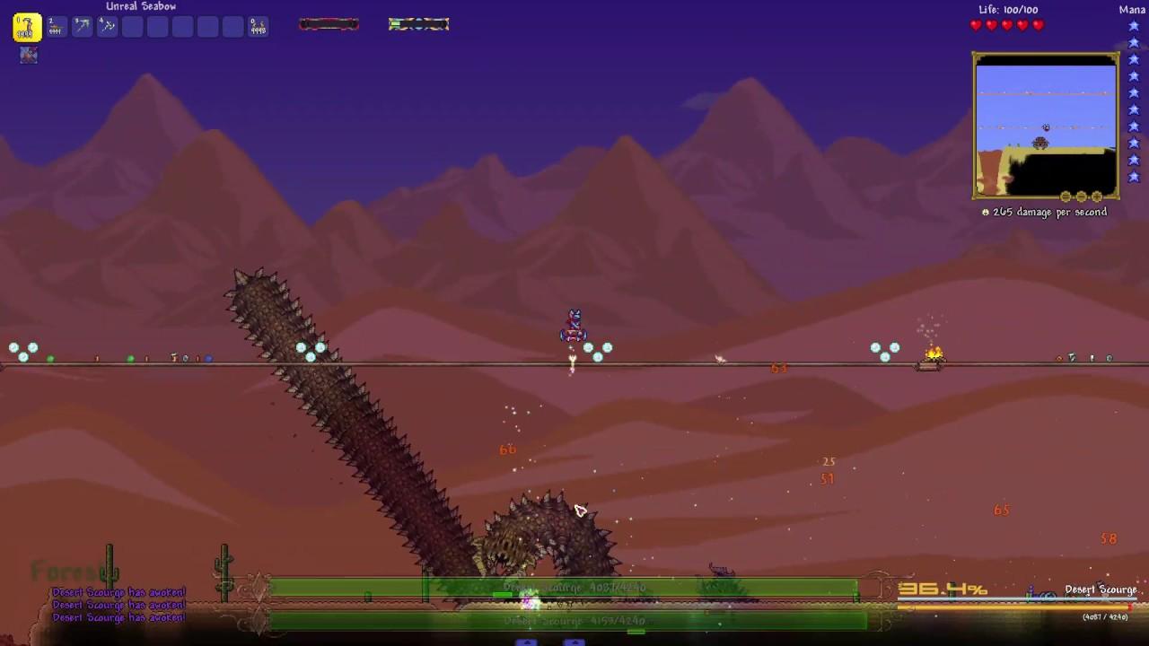Terraria Calamity Mod Revengeance Mode Desert Scourge No