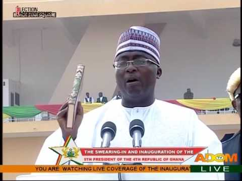 Swearing in of Vice President Alhaji Mahamudu Bawumia