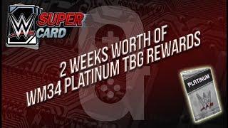WWE Supercard - Apr 23rd - 2 Weeks worth of WM34 Platinum TBG Rewards 👍🏻