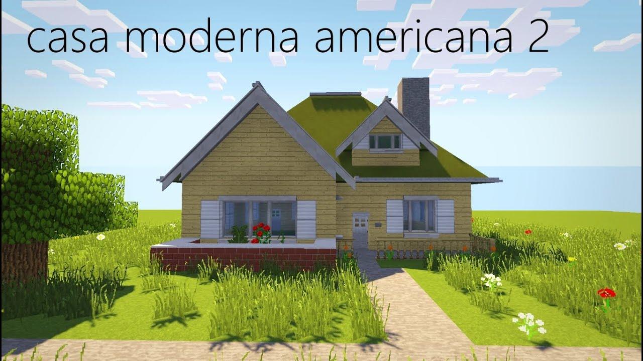 Como hacer una casa moderna americana minecraft youtube for Casa moderna americana