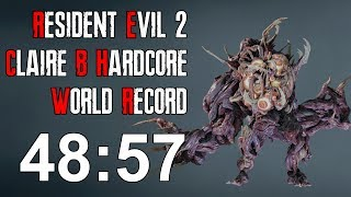 Resident Evil 2 Remake - Claire B Hardcore Speedrun Former World Record - 48:57