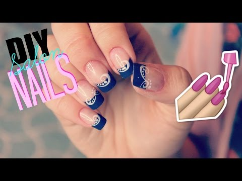 Salon Acrylic Look For $3! | How I Apply Store Bought Fake Nails at Home!
