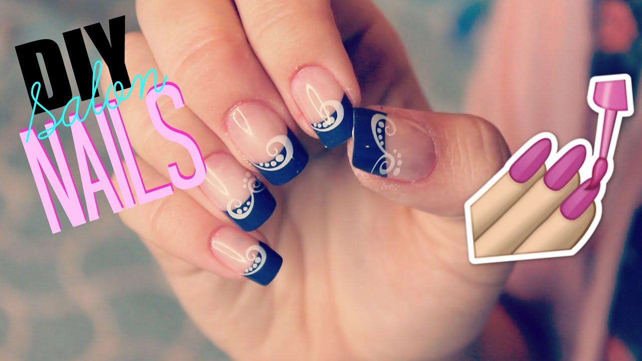 Salon acrylic nails at home