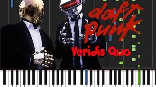 Daft Punk - Veridis Quo [Piano Tutorial] (♫)