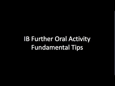 The IB English FOA - Further Oral Activity Tips 'n' Tricks