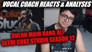 Vocal Coach reacts to Gulon Main Rang Ali Sethi Coke Studio Season 12