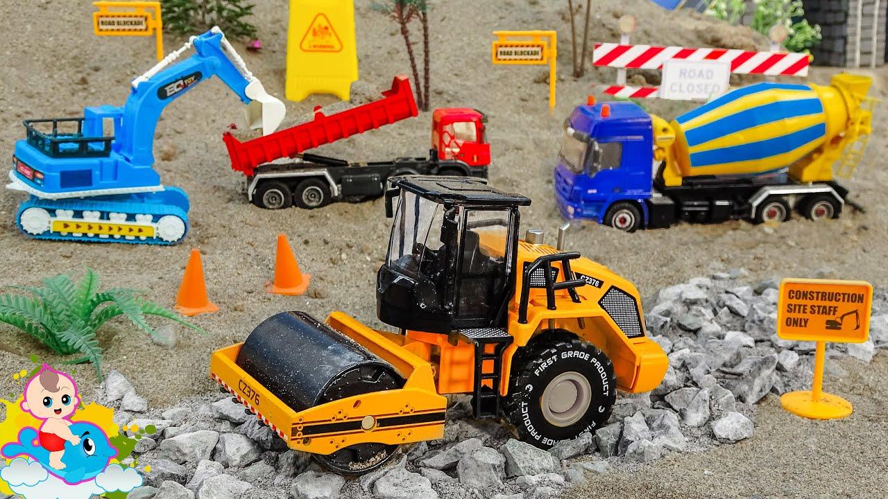 Harvest - Các Xe Ô Tô Công Trường Cùng Nhau Xây Đường - Đồ chơi trẻ em | Bé Cá