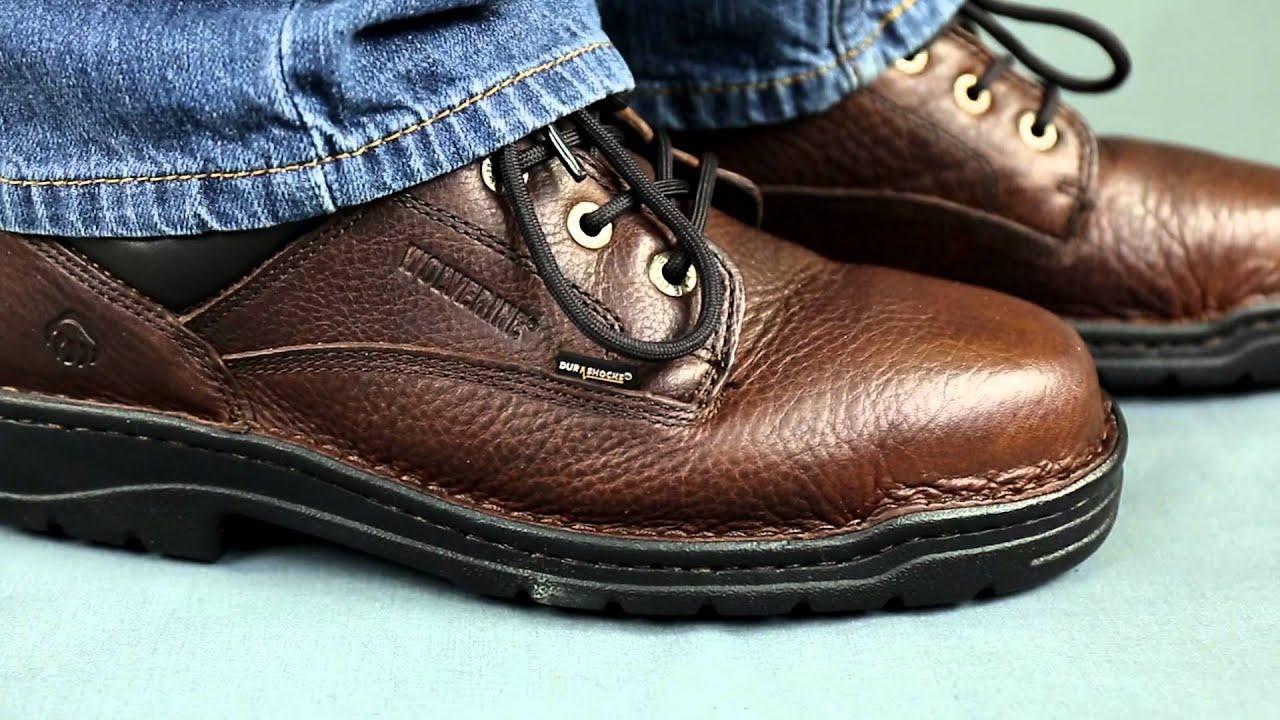 41659c3a8ce Wolverine 4374 Brown Exert DuraShocks Slip Resistant Work Shoes
