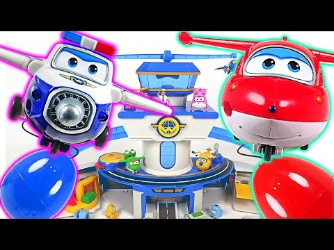 Thumbnail: Go Super Wings! Anywhere delivery at the airport. Magic egg capsule appeared! - DuDuPopTOY
