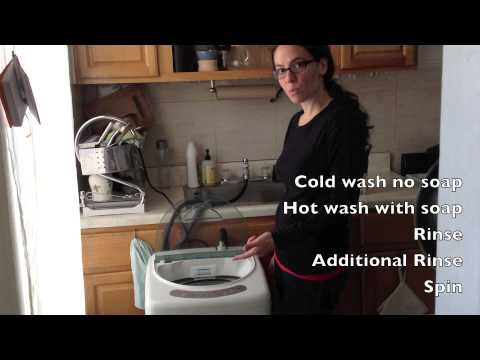 Washing cloth diapers with the Haier HLP21N - YouTube
