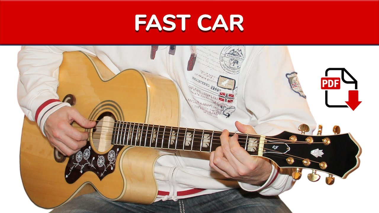 How To Play Fast Car By Tracy Chapman On Guitar Main Riff TAB - Tracy chapman fast car guitar