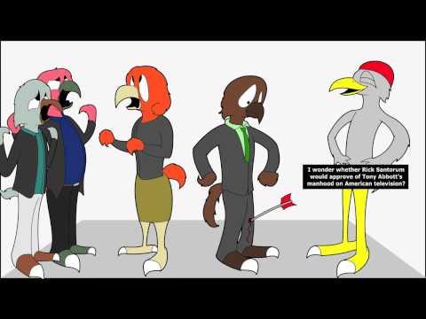 Australian Politics as explained by cartoon birds