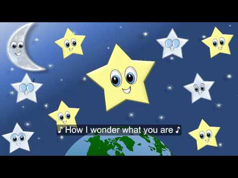 Twinkle Twinkle Little Star Song w Lyrics for Children, Estrellita Donde Estas? en Inglés FIESTIKIDS
