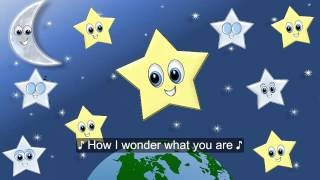 Twinkle Twinkle Little Star Song w Lyrics for Children, Estrellita Donde Estas? en Inglés FIESTIKIDS