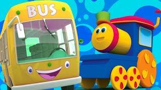 боб поезд   колеса на автобусе   автобусная песня в россии   Bob Train   The Wheels On The Bus
