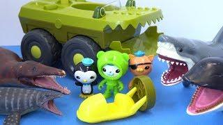 옥토넛과 상어 돌고래 공룡배틀 Octonauts shark dinosaur Episodes - 레오팡 - 공룡노래 공룡동요 공룡송 키즈송 유아동요 동요