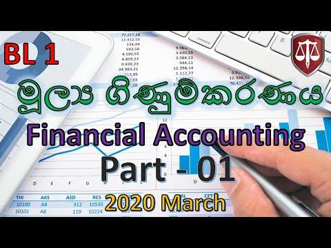 2020 March -BL1 -Part 1 - Financial Accounting Exam Focused CA Sri Lanka Webinars