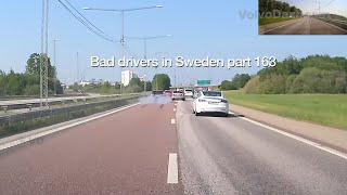 Bad Drivers in Sweden #163 BMW and Volvo almost cause an accident, and an angry bus driver! thumbnail
