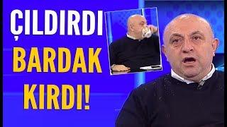 Sinan Engin Fenerbahçe'yi savunurken bardak kırdı