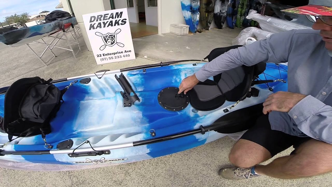 New albatross 4 triple 2 5 seater fishing kayak youtube for 2 seater fishing kayak