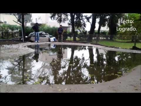 Construcci n de piscina laguna youtube for Lagunas artificiales construccion