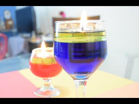 como hacer una vela con agua y aceite