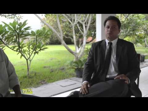 Vereador Leonardo Bruno concede entrevista.
