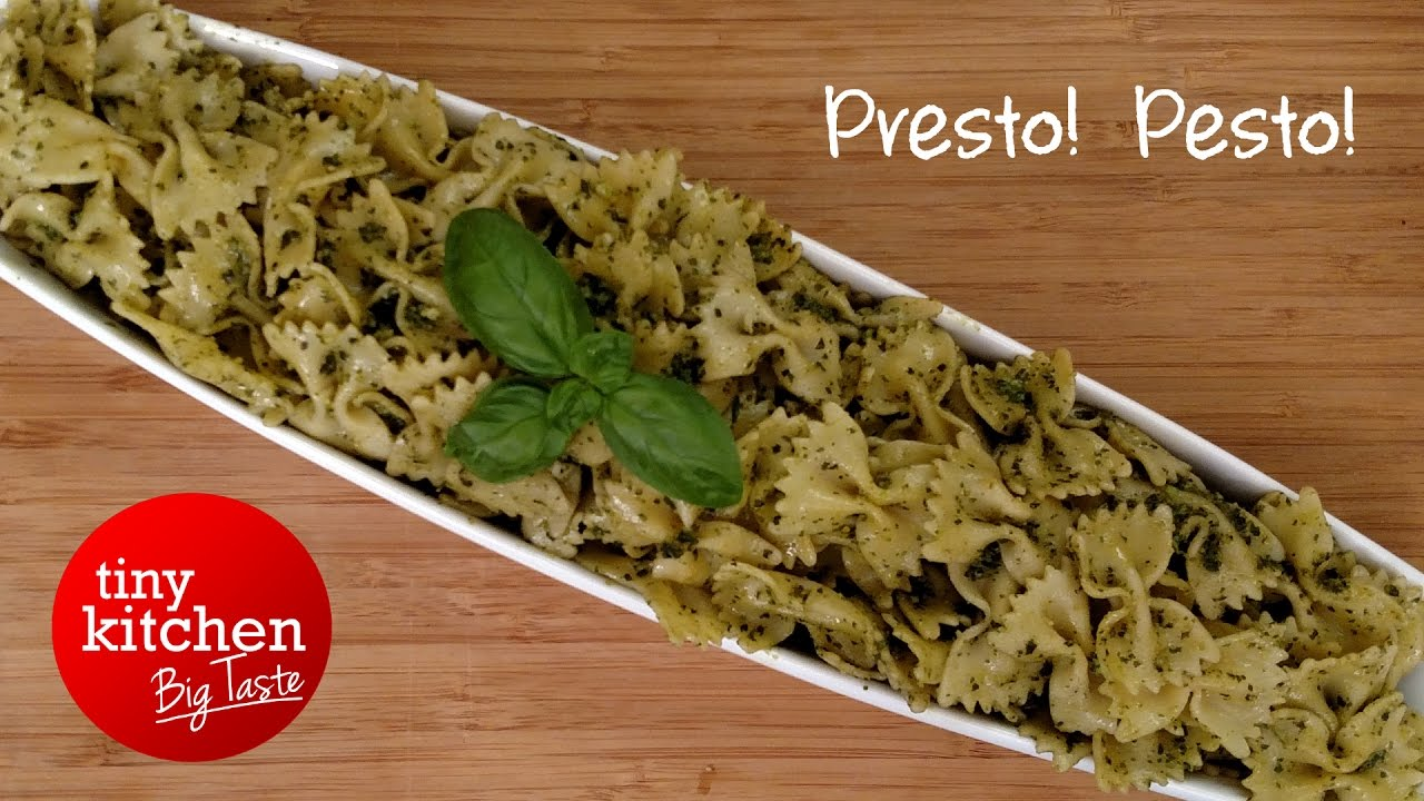 Presto! Pesto! // Tiny Kitchen Big Taste - YouTube