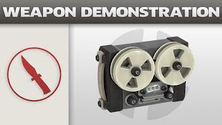 Weapon Demonstration: Red-Tape Recorder