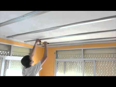 Pladur restauracion de techo con omegas youtube for Como encielar un techo