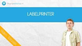 Dymo labelwriter gekoppeld aan je webshop.