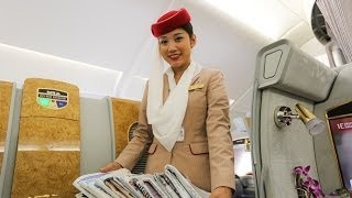 Repeat youtube video Emirates A380 First Class Suites, HD Experience
