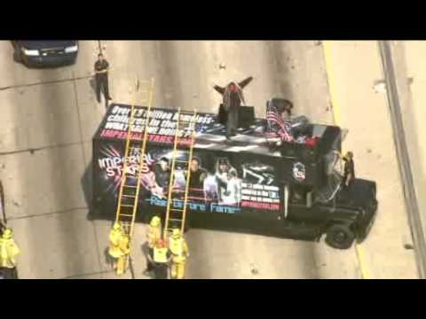 Music Group Shuts Down 101 Freeway in Hollywood