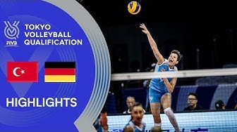 TURKEY vs. GERMANY - Highlights Women | Volleyball Olympic Qualification 2019