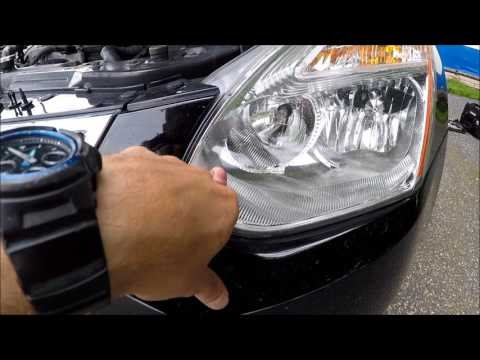 How to change replace Headlight Bulbs in Nissan Rogue 2007-2013