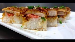 How To Make Chicken Teriyaki Sushi 鶏寿司