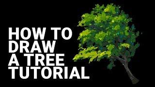 Как нарисовать дерево /Кисти в Фотошопе