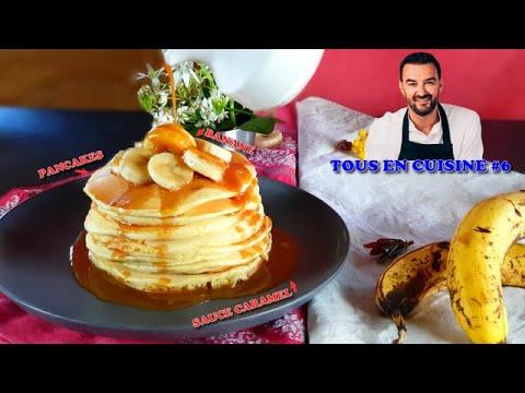 tous-en-cuisine-#6-:-je-teste-les-pancakes-banane-et-sauce-caramel-de-cyril-lignac-!