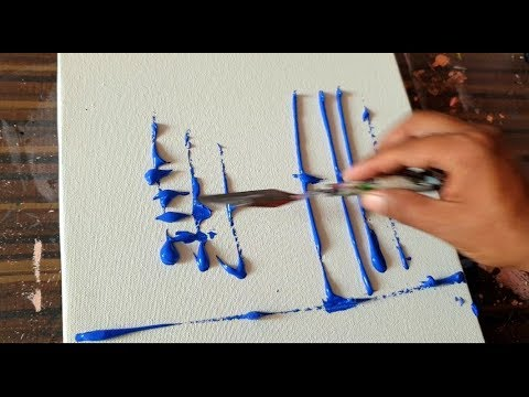 Abstract Painting Demonstration / Cityscape / Satisfying / Acrylics / project 365 days / Day #0290