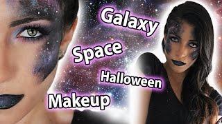 Halloween Space/Galaxy Makeup Tutorial | MakeupAndArtFreak