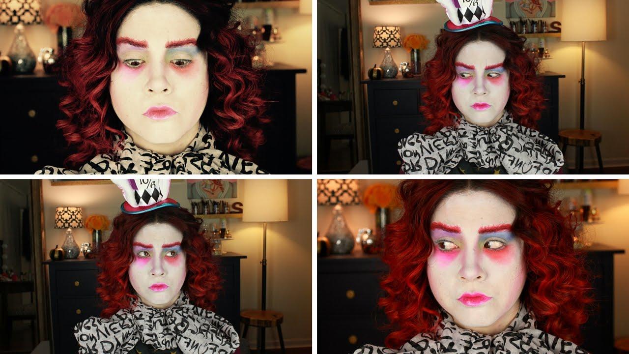 Mad Hatter Makeup Halloween Costume Heygooglious Samantha