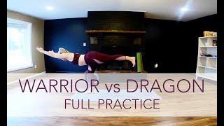 Warrior vs Dragon Flow - Full | Flow Yoga with Sara Ann Comte
