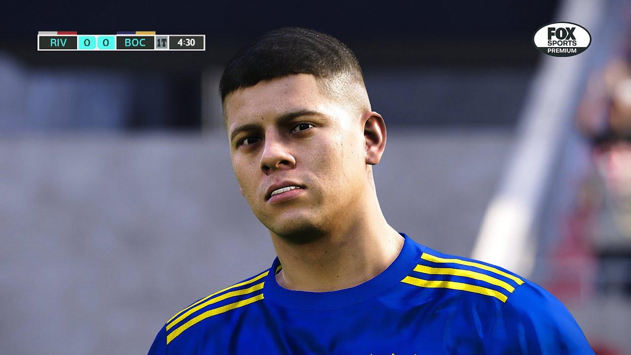 Recreación River Plate 2-1 Boca Juniors - Torneo Liga Profesional 2021